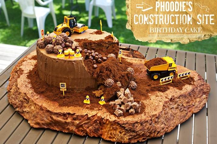 PHOODIE'S CONSTRUCTION SITE BIRTHDAY CAKE! — phoodie